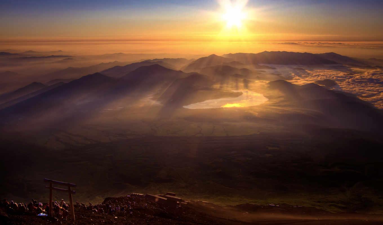 zakat, natura, красивых, девушек, горы, подборка,