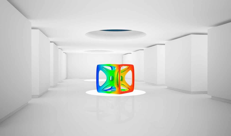 white, pantallas, fondos, astratti, imagenes, комната, mejores, кубик,