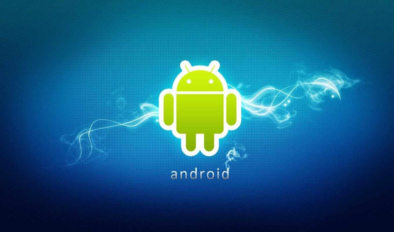 android, программы, фон, голубой,