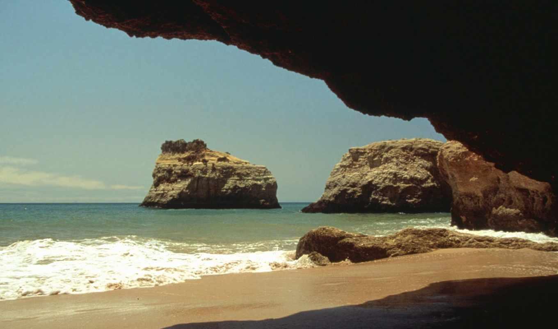португалия, natural, природа, shelter, пещера, камни,