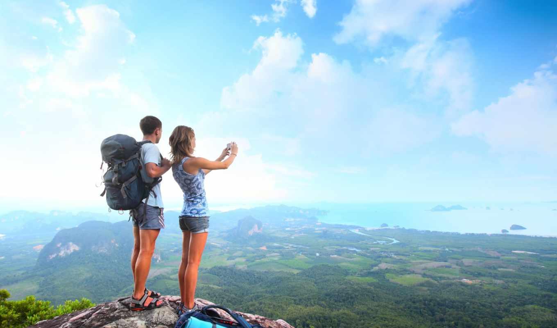 couple, mountain, туризм, долина, море, девушка, высота, парень, travel, peak, top, preview, за, category,