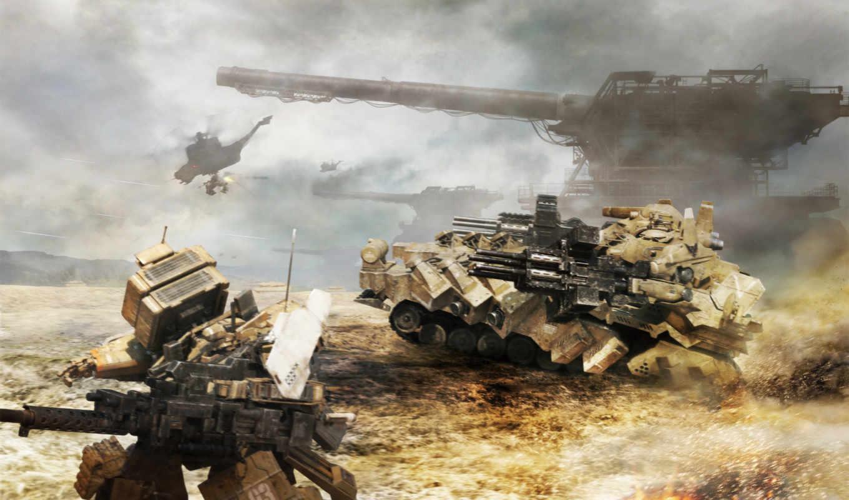 аниме, артиллерия, танк, меха, armored, core, max, картинка, мех,