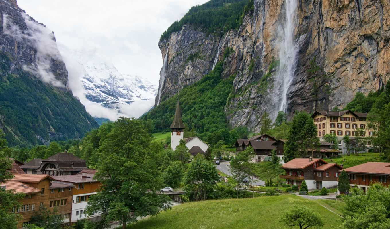 швейцария, города, lauterbrunnen,