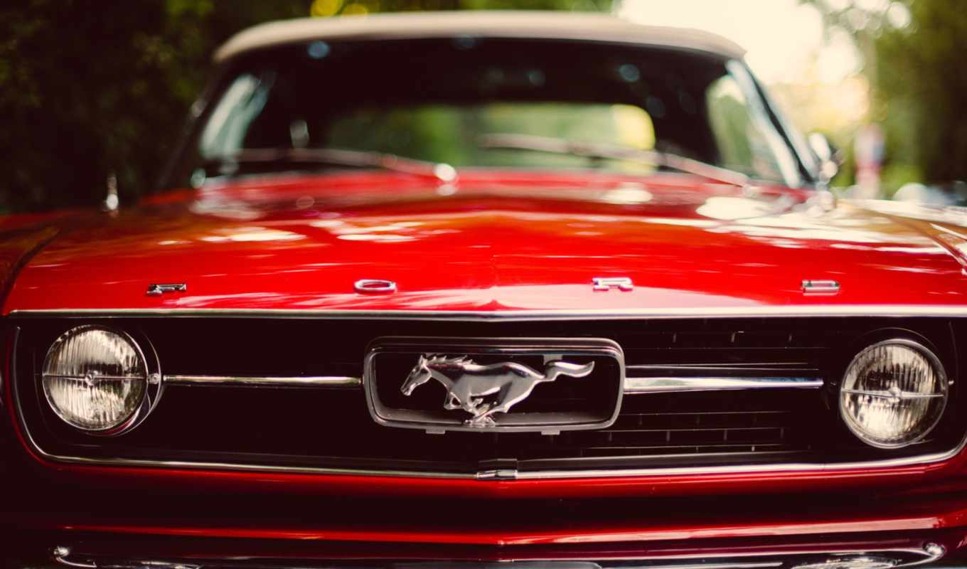 mustang, ford, red,
