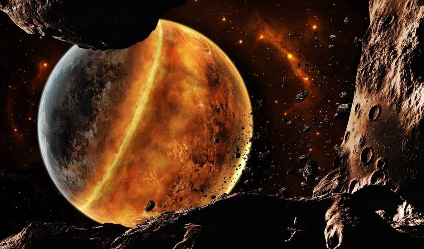 planet, планеты, cosmos, fantasy, звезды, метеориты, land,