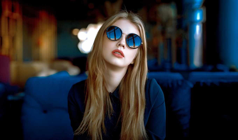 девушка, солнечный, glass, point, корабль, off, sunglasses