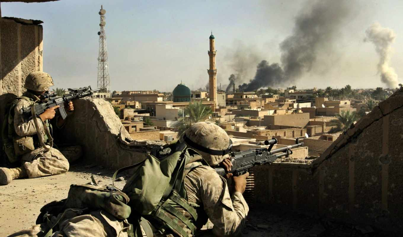 солдаты, оружие, ирак, армия, красивы,