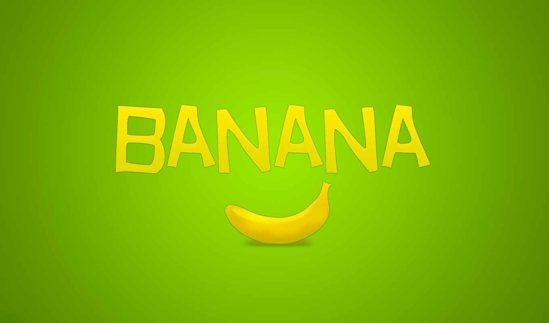 банан, минимализм, надпись, зелёный, фрукт, картинка, картинку, кнопкой, мыши,
