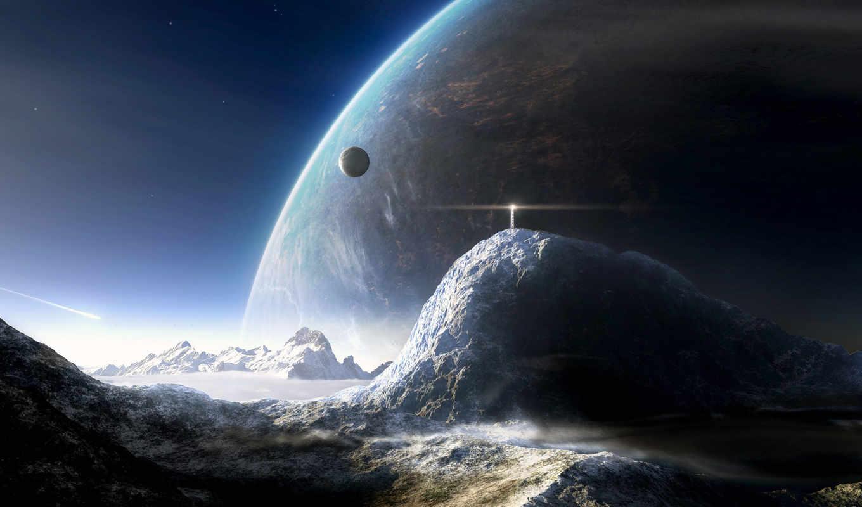 mountain, hintergrundbilder, чудеса, planet, distant, луна, маяк, snow, planeten, oberfläche, космос, des, first, ligthouse, download, views, космоса, fonds, دیدگاه, fondos, картинку, ecran, surface,