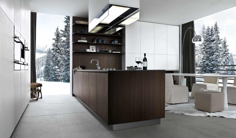 kitchen, poliform, интерьер, тек, стиль, хай, дизайн, high, tech,
