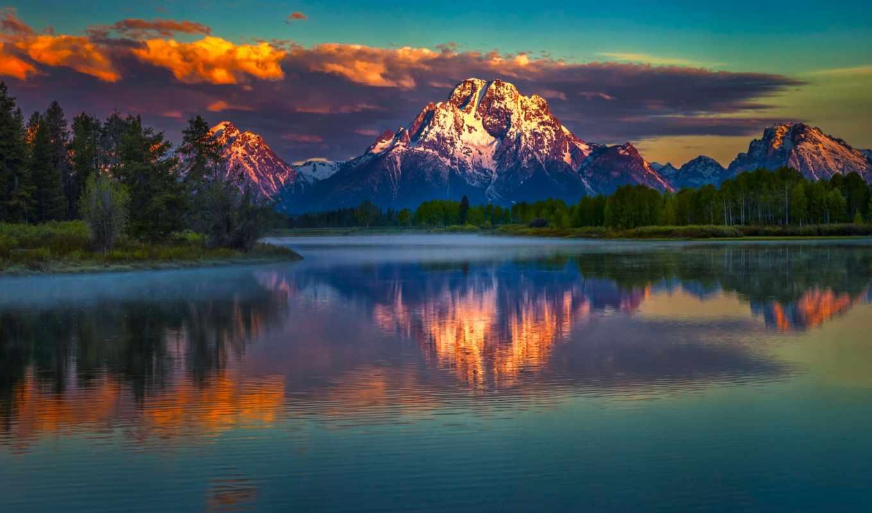 гора, озеро, desktop, landscape, mountains, mobile, страница,
