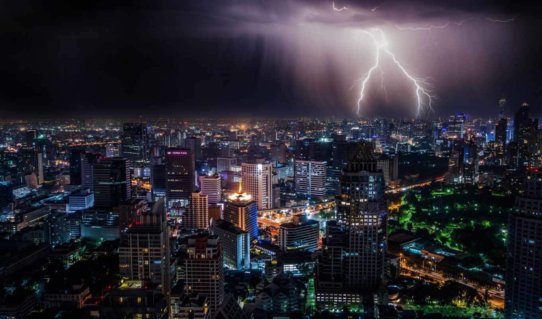 lightning, bangkok, thai, phaya, буря, thanon, free
