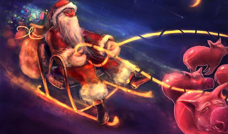 год, новый, ночь, мороз, дед, christmas, funny, праздники, bed,