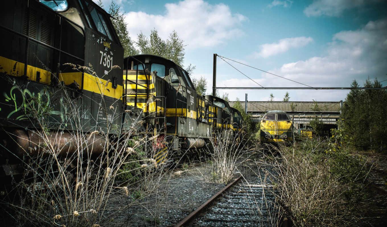 дорога, железная, поезд, рельсы,