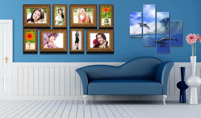 картины, интерьере, интерьера, диван, интерьер,
