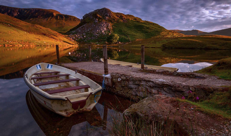 пейзажи -, landscape, pier, озеро, коллекция,