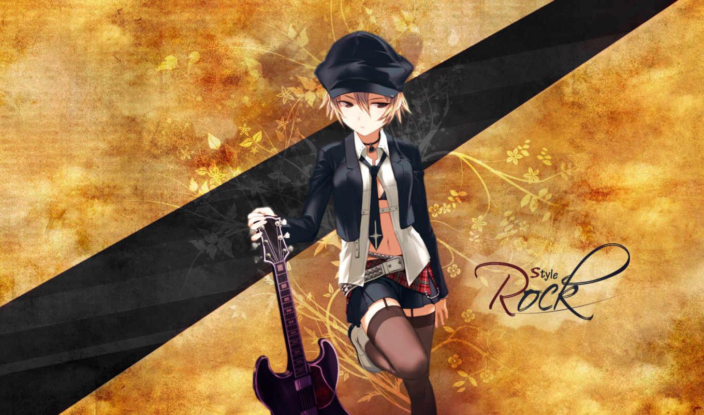 аниме, wallpapers, anime, гитара, guitar, обои, вокалоид