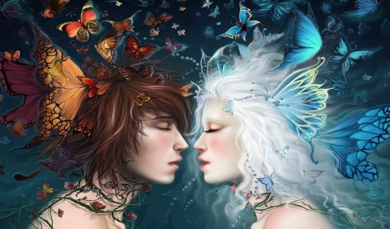 akubaka, бабочки, девушка, парень, арт, картинка, картинку, правой, кнопкой,
