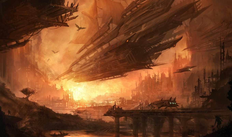 spaceship, sci, корабль, space, cosmos, planets, graphics, galaxy, spaceships, рисунок, будущее, fantasy, art, normal,