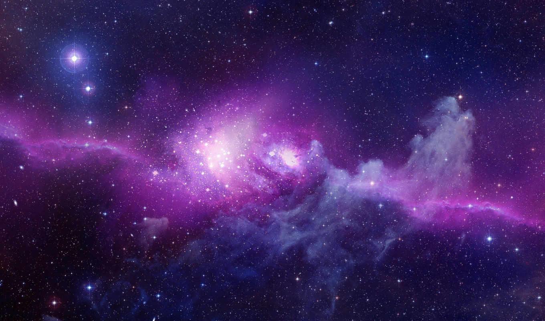 фиолетвый, созвездия, звезды, вселенная, galaxy, desktop, purple, картинка, fantasy, apple, space, mac, image,