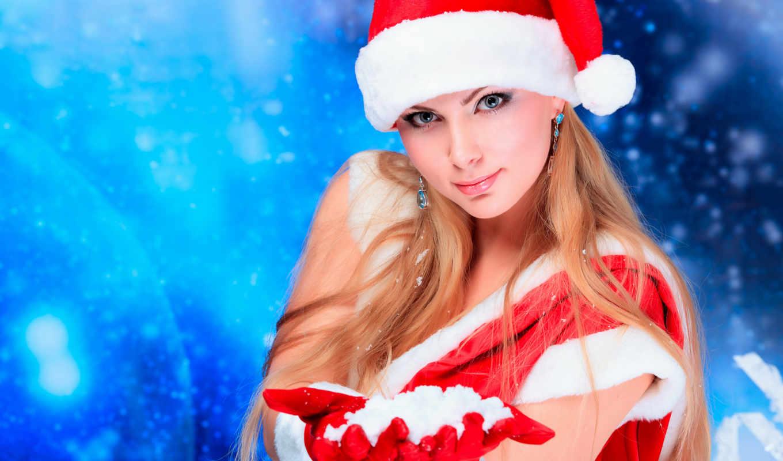 снегурочки, девушки, снегурочка, наряде, сексуальные,