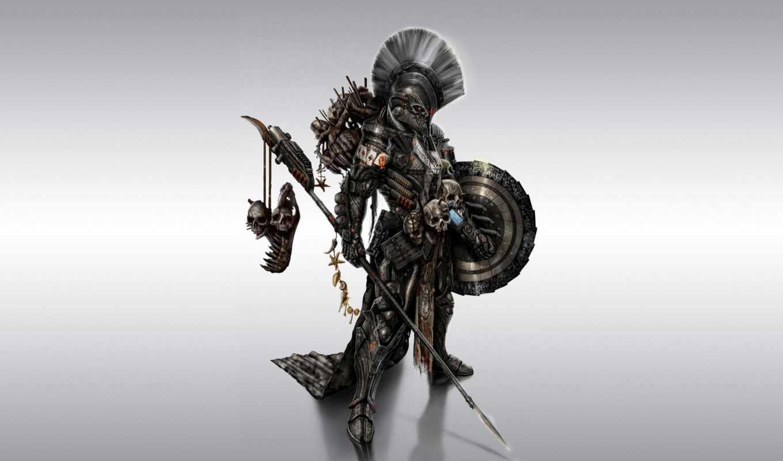 доспех, спартанец, воин, spartan, оружие, spear, щит,