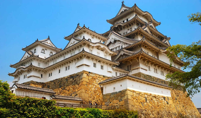 замок, белой, цапли, химэдзи, himeji, castle, япония,
