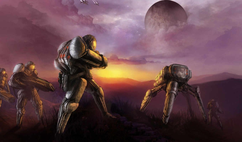 robot, фантастика, art, роботы, киборги, planet, люди, машины, fantasy,