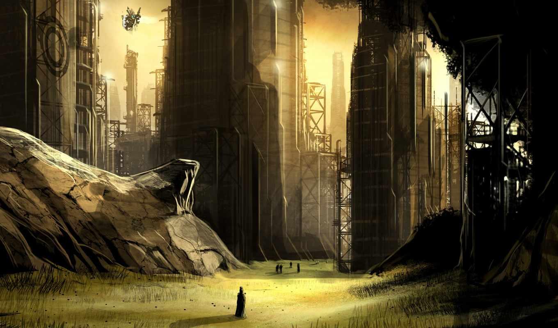фантастика, город, обои, совершенно, будущее, свой