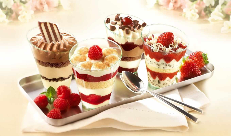 мороженое, десерт, обои, десерты, от, малина, клуб