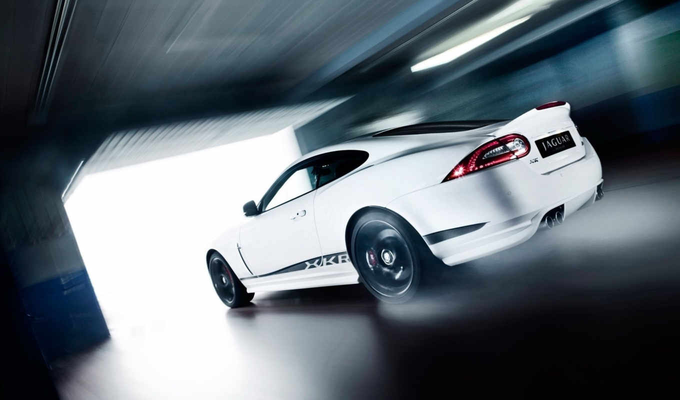 jaguar, xkr, masini, speed, white, black, rear, garage, angle, pack, edition, moving, special, imagini,