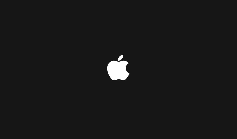 apple, logo, white, black