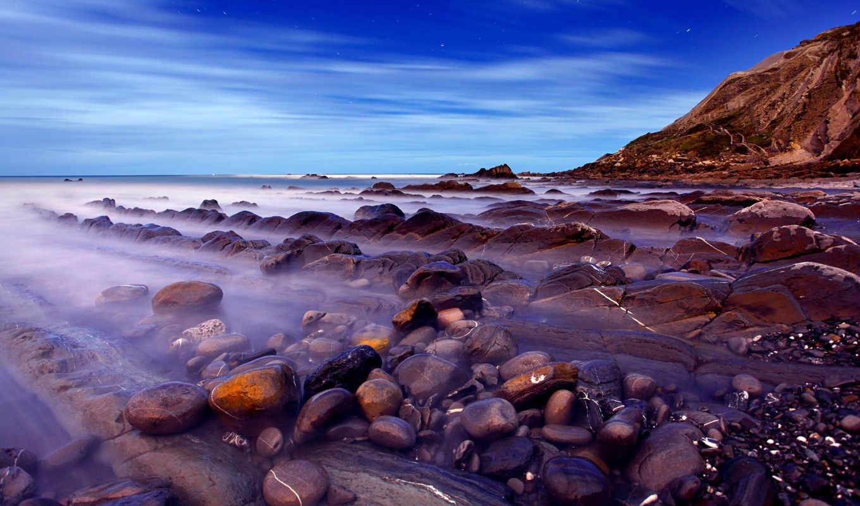 desktop, screensaver, mountains, скалы, камни, море,