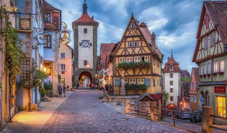 rothenburg, германия, ob, tauber, tourist, agency, фото, caravan