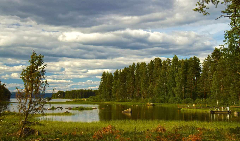картинка, изображение, sweden, природа, трава, реки, небо, dalarna,