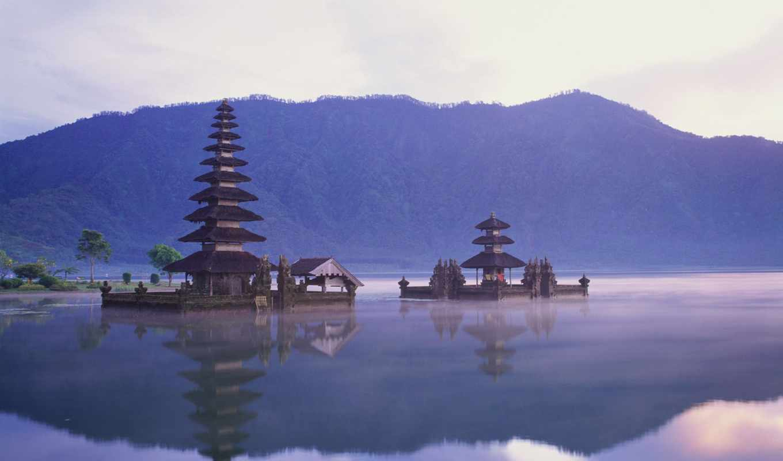bali, храм, пура, дану, улун, воде, братан, острове,