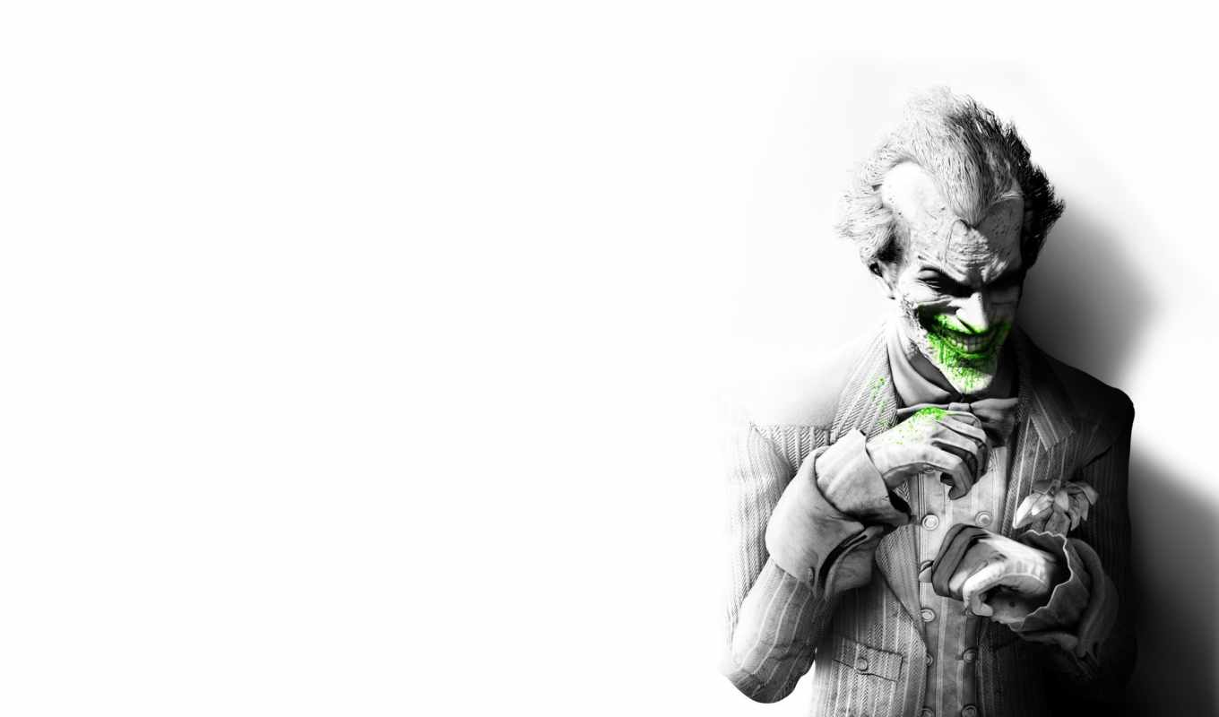 joker, batman, arkham, city, laughing,