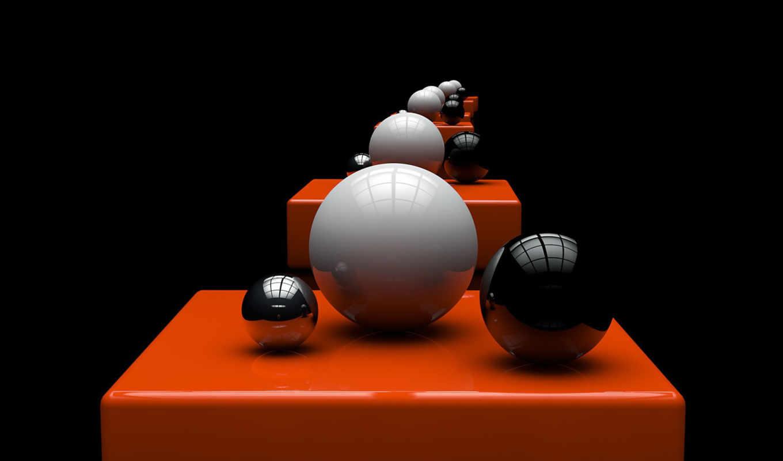 шары, сферы, арт, отражение, orange, марта,