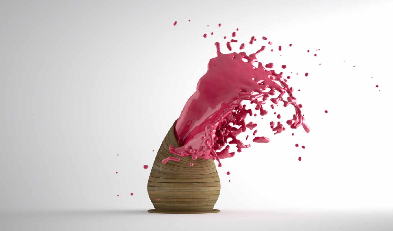 брызги, краски, краска, color,