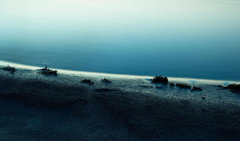 море, берег,