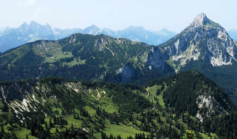 картинка, природа, германия, landscape, бавария, горы, реки,