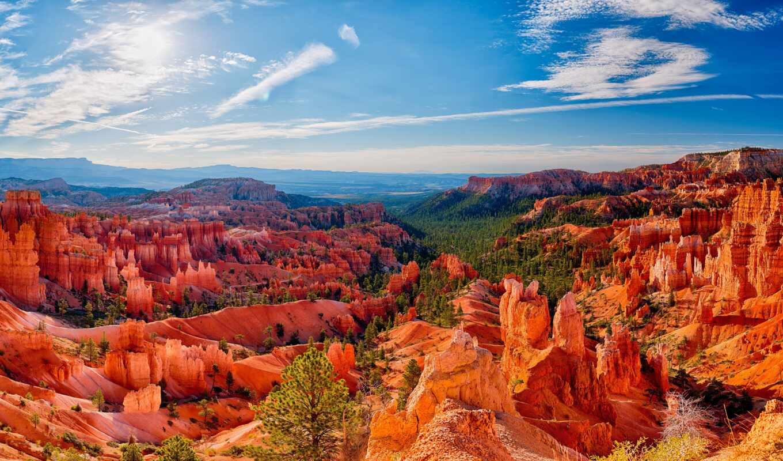 каньон, park, bryce, national, usa, cliff, тематика, природа