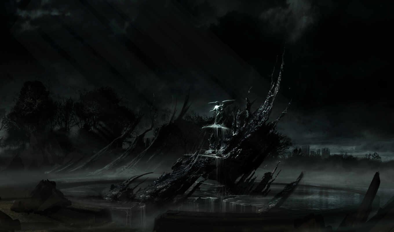 alone, dark, games,