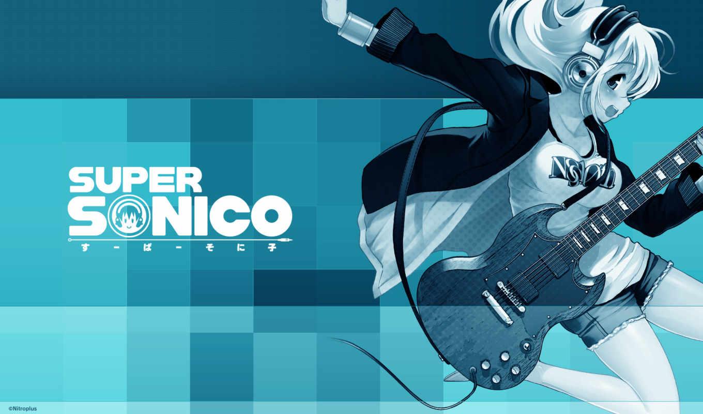super, headphones, гитара, наушники, soniko, sonico, anime,