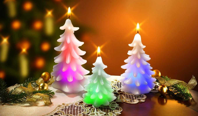 новогодние, new, год, свечи,