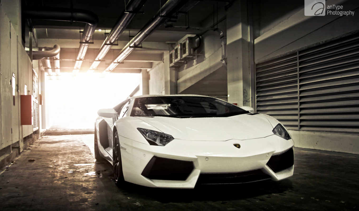 lamborghini, aventador, windows, car, white, black,
