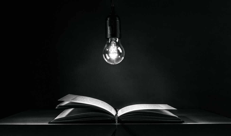 лампочка, книга, свет, фон, чёрн, podcast, scherhag, юте, storyteller