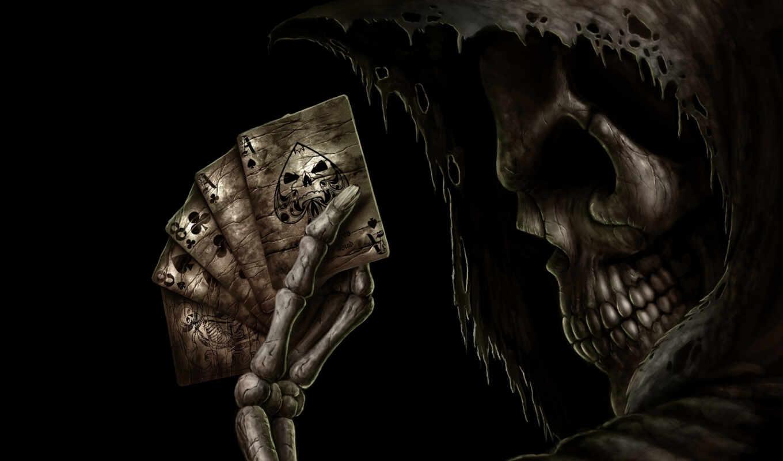 skelett, покер,