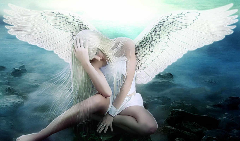 angel, грустный,