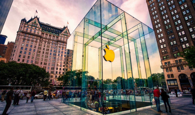 apple, store, лучшей, компании, new, glass, магазин, york, fifth, сша,
